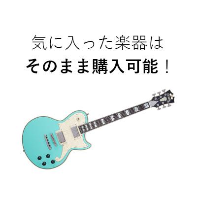 気に入った楽器はそのまま購入可能!