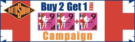 Rotosound Buy2 Get1キャンペーン