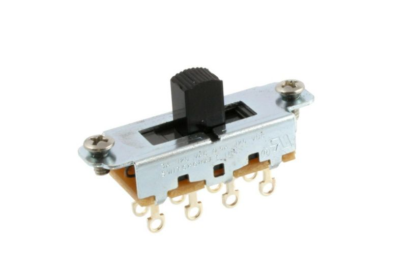 Allparts EP-0261-023 Switchcraft Black On-Off-On Slide Switch [1013]の商品画像1