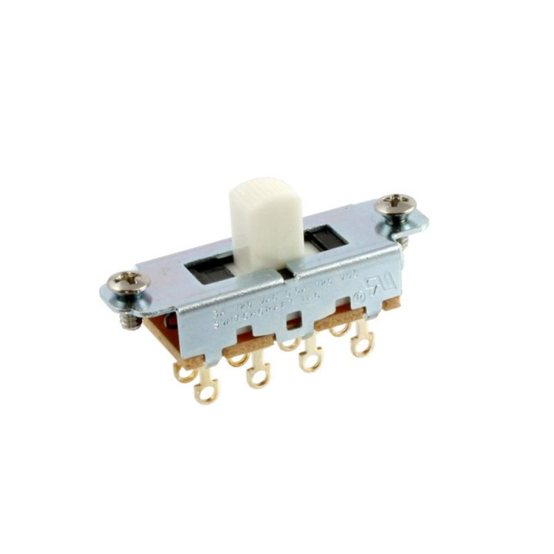 Allparts EP-0261-025 Switchcraft White On-Off-On Slide Switch [1012]の商品画像1