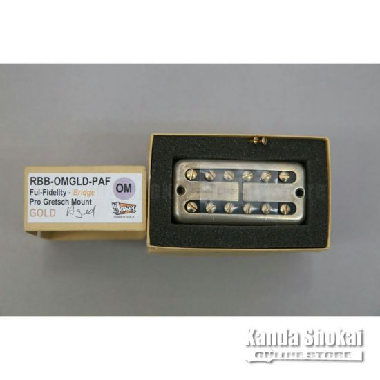 TV Jones Ray Butts Ful-Fidelity Filter'Tron PAF Cover Bridge, Aged Goldの商品画像1