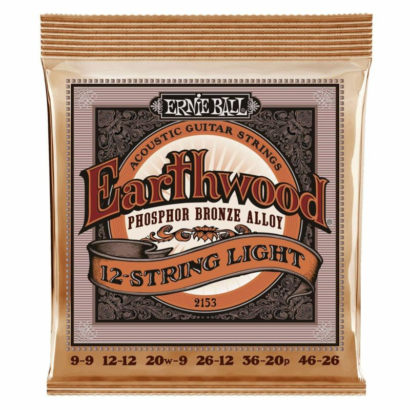 Ernie Ball Earthwood Acoustic Phosphor Bronze 12 String Light [#2153]の商品画像1