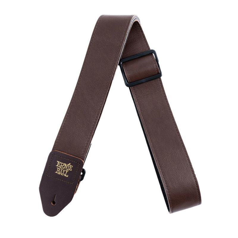 Ernie Ball 2 Tri-Glide Italian Leather Strap Brown [#4135]の商品画像1