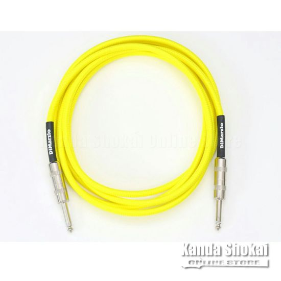 [Outlet] DiMarzio Guitar Cable EP1718SS Neon Yellow 5.4mの商品画像1