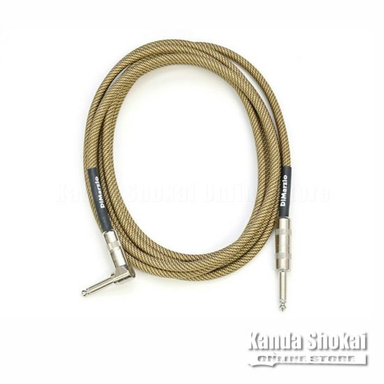 [Outlet] DiMarzio Guitar Cable EP1718SRS Vintage Tweed 5.4mの商品画像1