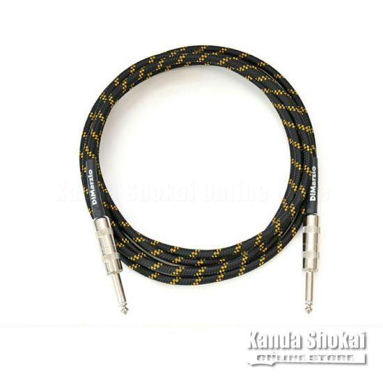 [Outlet] DiMarzio Guitar Cable EP1718SS Black/Yellow 5.4mの商品画像1