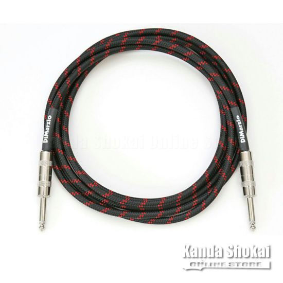 [Outlet] DiMarzio Guitar Cable EP1710SS Black/Red 3.1mの商品画像1