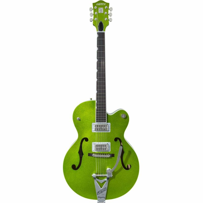 Gretsch G6120T-HR Brian Setzer Signature Hot Rod Hollow Body with Bigsby Extreme Coolant Green Sparkleの商品画像1