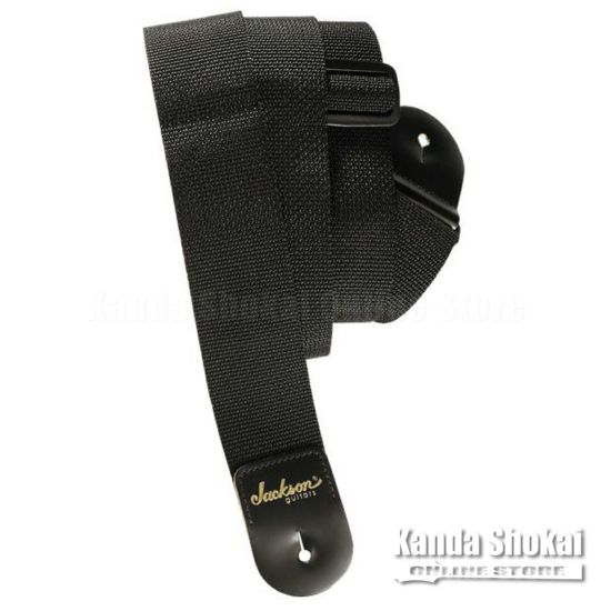"Jackson 2"" Poly Guitar Strap, Blackの商品画像1"