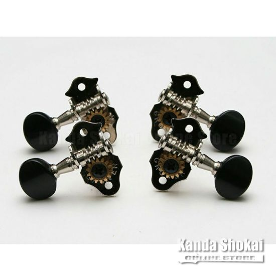 Grover Ukulele Peg 9,Nickel Black Buttonの商品画像1