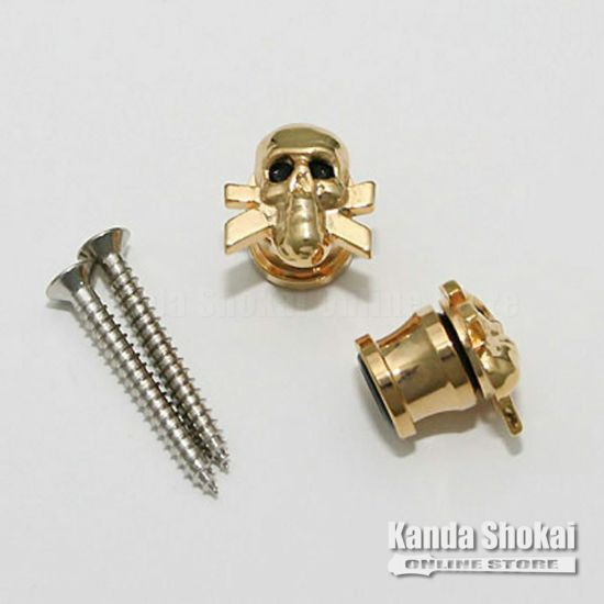 Grover Strap Button 610 SKULL, Goldの商品画像1