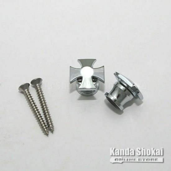 Grover Strap Button 640 IRON CROSS, Chromeの商品画像1