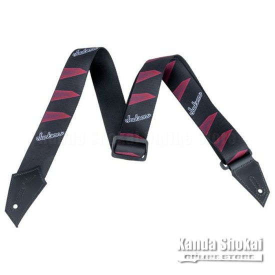 Jackson Strap with Headstock Pattern, Black / Redの商品画像1