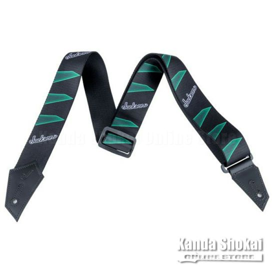 Jackson Strap with Headstock Pattern, Black / Greenの商品画像1