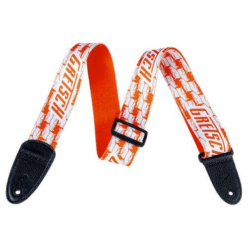 Gretsch Double Penguins Strap, Orange / Whiteの商品画像1