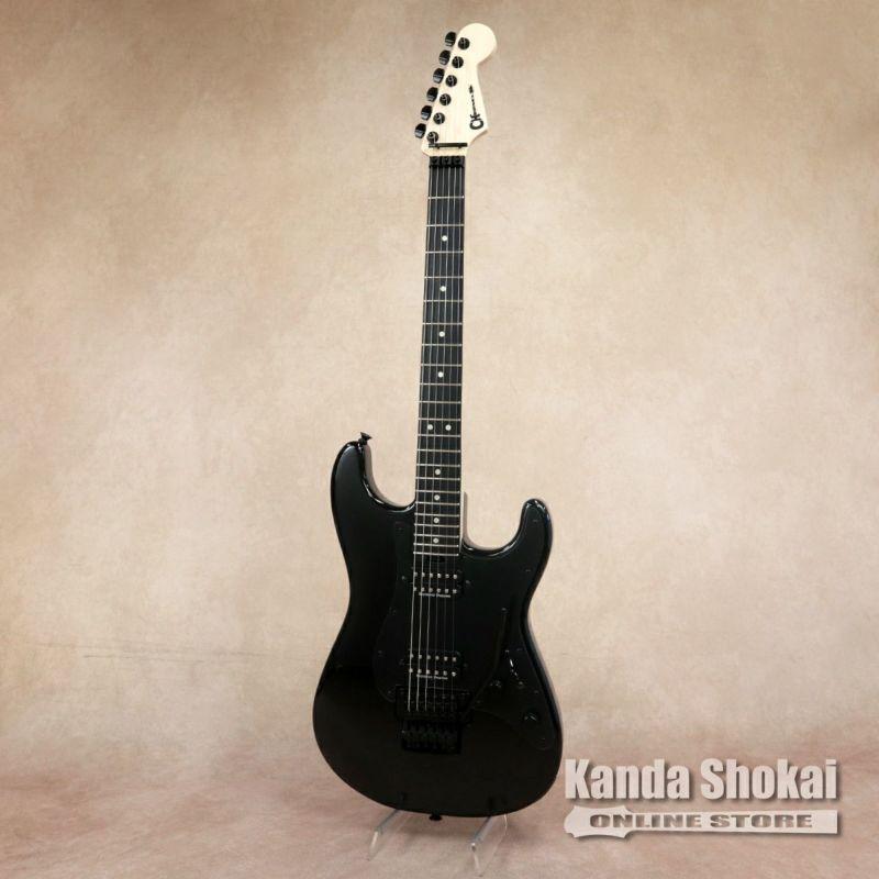 Charvel Pro-Mod So-Cal Style 1 HH FR Ebony, Gloss Black with Black Pickguardの商品画像1