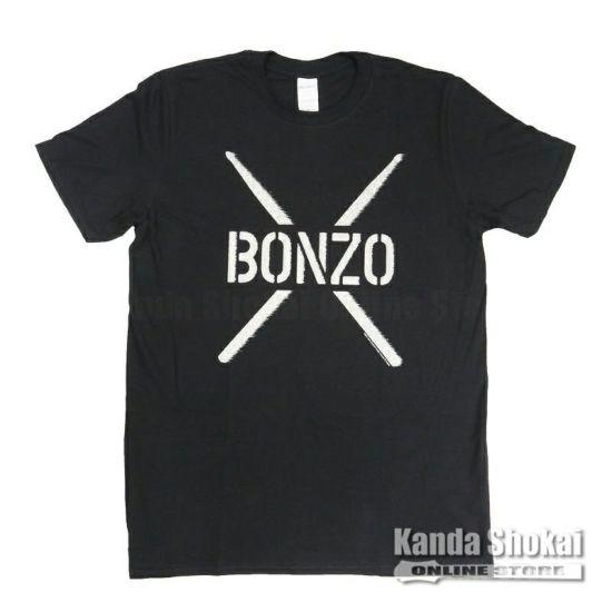 Promuco John Bonham T-Shirt BONZO STENCIL, Black, Mediumの商品画像1