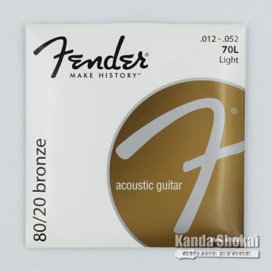 [Outlet] Fender 80/20 Bronze Acoustic Strings, 70L  (.012-.052)の商品画像1