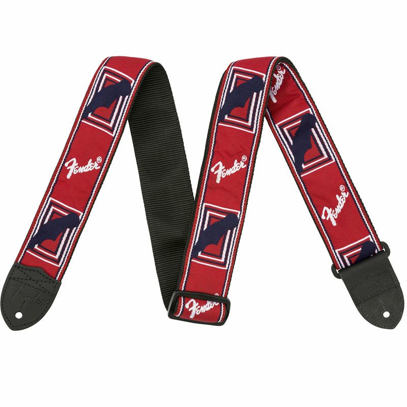 "[Outlet] Fender 2"" Monogrammed Strap, Red / White / Blueの商品画像1"