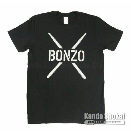 Promuco John Bonham T-Shirt BONZO STENCIL, Black, Extra Largeの商品画像1