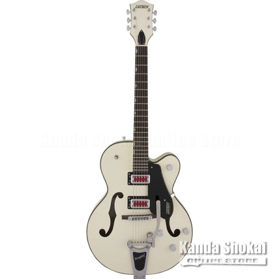 """Gretsch G5410T Electromatic """"Rat Rod"""" Hollow Body Single-Cut with Bigsby, Matte Vintage White [S/N: KS20014307]の商品画像1"""