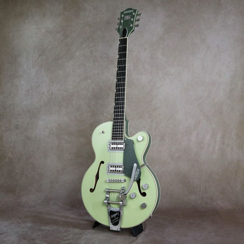 Gretsch G6659T Players Edition Broadkaster Jr. Center Block Single-Cut with String-Thru Bigsby, Two-Tone Smoke Green [S/N: JT20052124]の商品画像1
