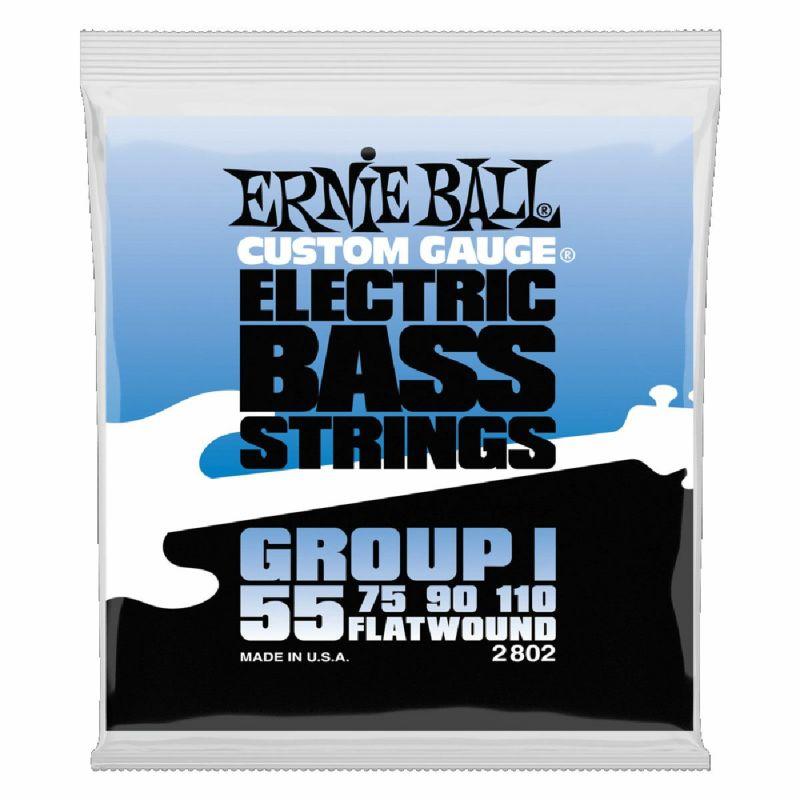Ernie Ball Flatwound Group I Electric Bass 55-110 [#2802]の商品画像1