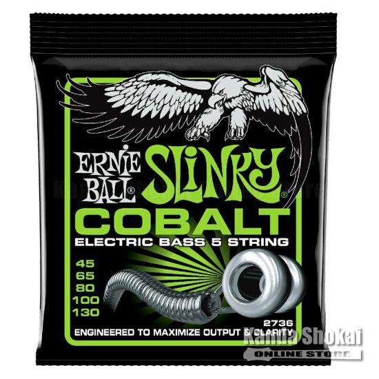 Ernie Ball Bass 5 Slinky Cobalt Electric Bass 45-130 [#2736]の商品画像1