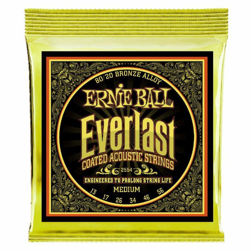 Ernie Ball Medium Coated 80/20 Bronze 13-56 [#2554]の商品画像1