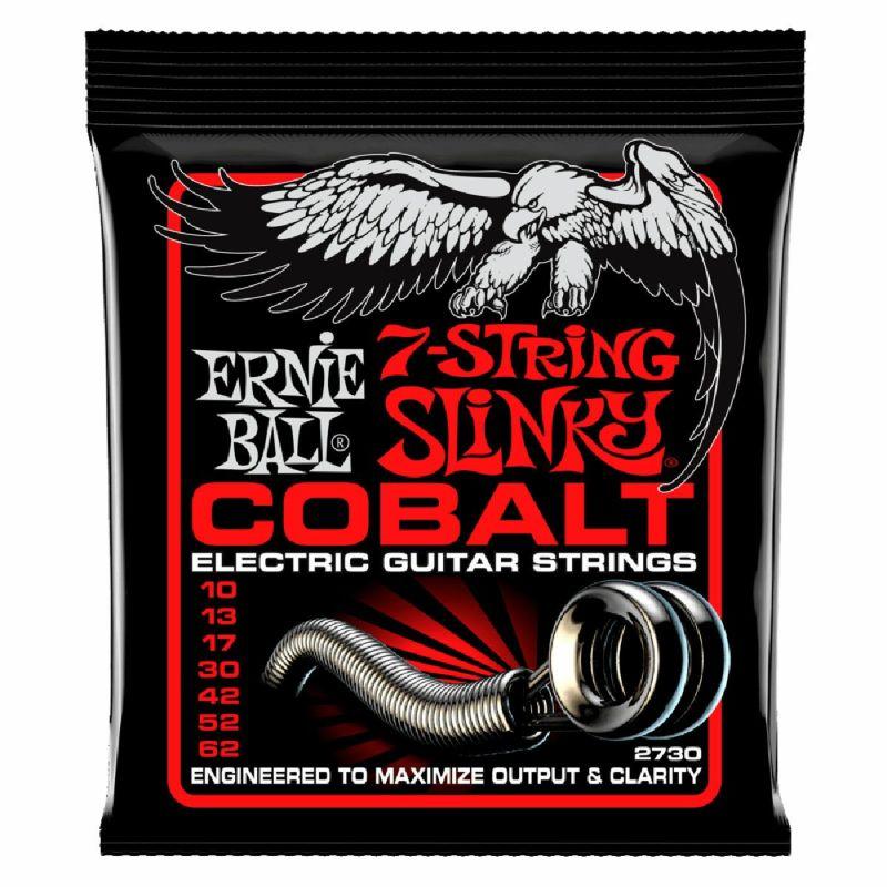 Ernie Ball Skinny Top Heavy Bottom Slinky Cobalt 7-String Electric Guitar 10-62 [#2730]の商品画像1
