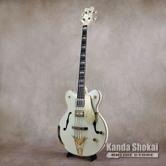 Gretsch G6136B-TP Tom Petersson Signature Falcon 4-String Bass, Aged White [S/N: JT20020913]の商品画像1