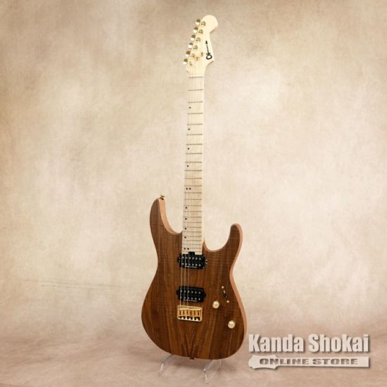 Charvel Pro-Mod Dinky DK24 HH HT M Mahogany with Figured Walnut, Natural [S/N: MC19501101]の商品画像1