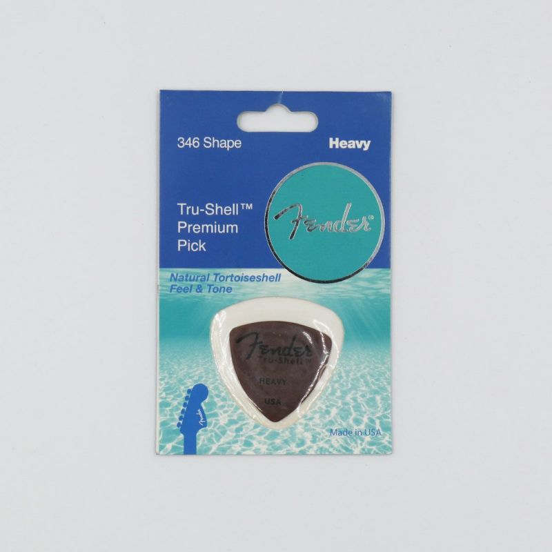[Outlet] Fender 346 Shape Tru-Shell Pick, Heavy, Brownの商品画像1