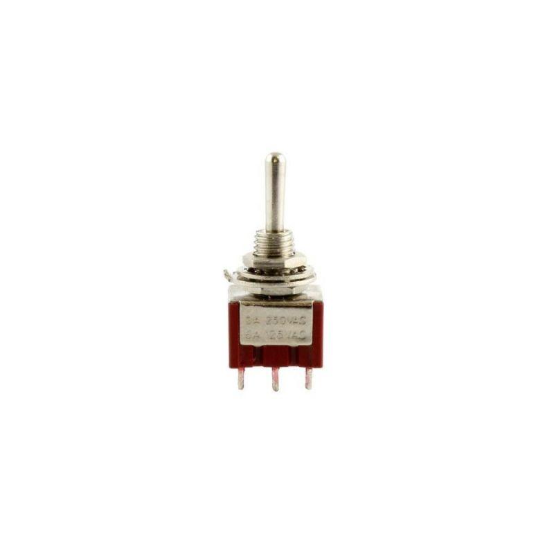 Allparts EP-4181-010 Chrome On-On Round Bat Mini Switch [1031]の商品画像1