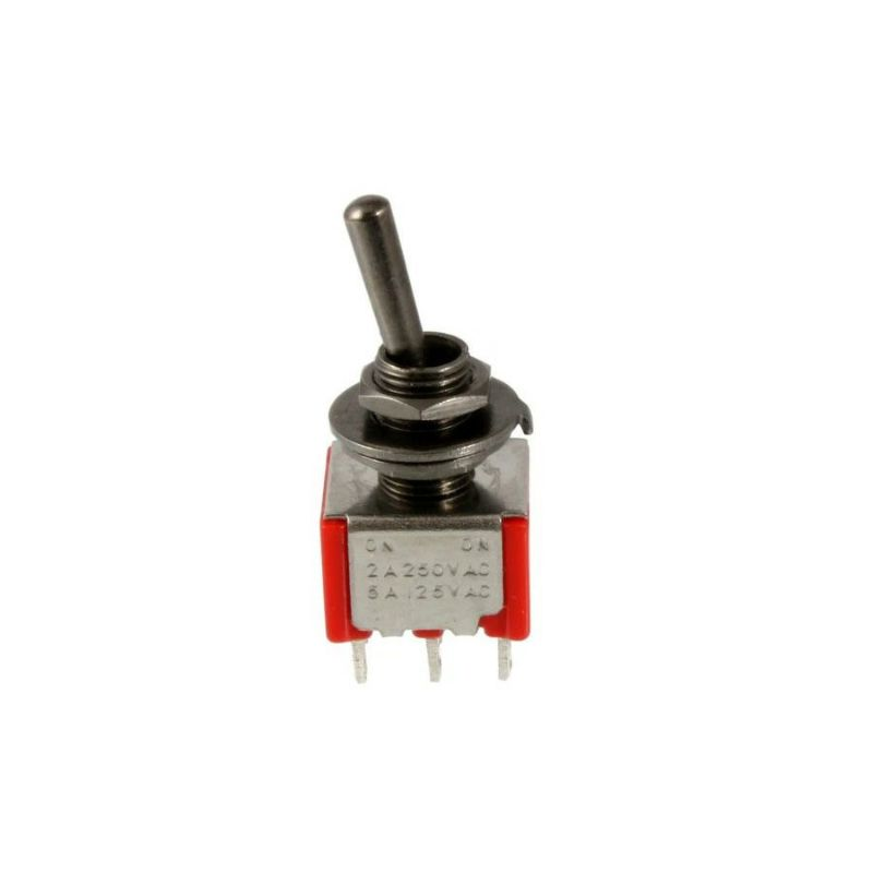 Allparts EP-4180-003 Black On-On-On Round Bat Mini Switch [1034]の商品画像1