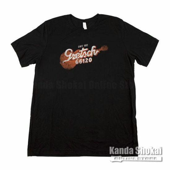 Gretsch G6120 T-Shirt, Black, Largeの商品画像1
