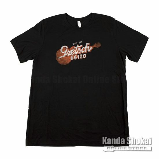 Gretsch G6120 T-Shirt, Black, Mediumの商品画像1